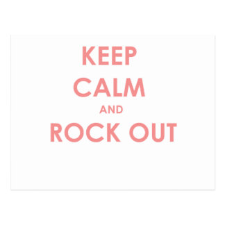 Keep calm and rock out postcard