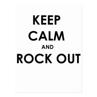 Keep calm and rock out! postcard
