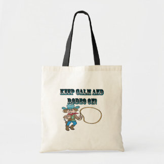 Keep Calm And Rodeo On Canvas Bag