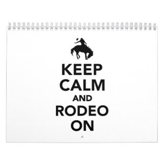 Keep calm and rodeo on calendar