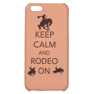 Keep Calm and Rodeo On cowboy cowgirl gift iPhone 5C Case
