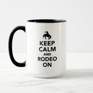 Keep calm and rodeo on mug