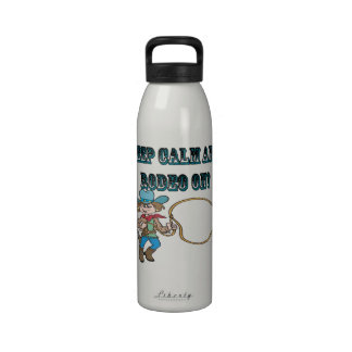 Keep Calm And Rodeo On Water Bottle