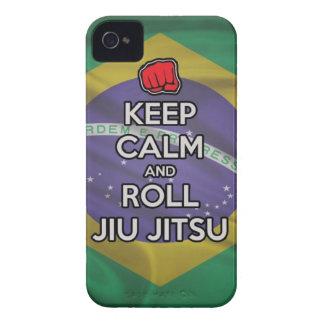 keep calm and roll jiu jitsu iPhone 4 cases