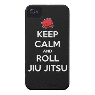 keep calm and roll jiu jitsu iPhone 4 Case-Mate case