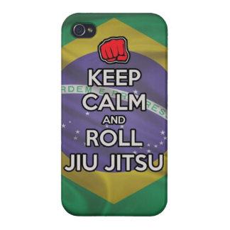 keep calm and roll jiu jitsu case for iPhone 4