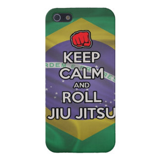 keep calm and roll jiu jitsu iPhone 5 cover