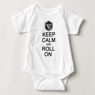 Keep Calm and Roll On Fyxt Light Apparel Baby Bodysuit