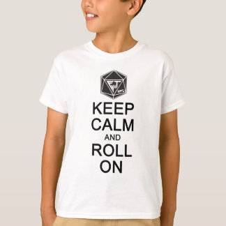 Keep Calm and Roll On Fyxt Light Apparel T-Shirt