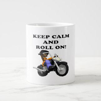 Keep Calm And Roll On Large Coffee Mug