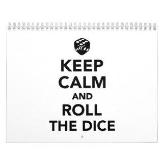 Keep calm and roll the dice calendar