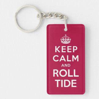 Keep Calm And Roll Tide Double-Sided Rectangular Acrylic Keychain