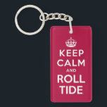 """Keep Calm And Roll Tide Keychain<br><div class=""""desc"""">Check out these official Alabama Crimson Tide Logo products! Show your Crimson Tide pride by getting your Bama gear here.  These products will allow you to take your Alabama spirit with you wherever you go!</div>"""