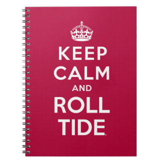 Keep Calm And Roll Tide Spiral Notebook