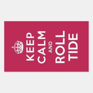 Keep Calm And Roll Tide Rectangular Sticker