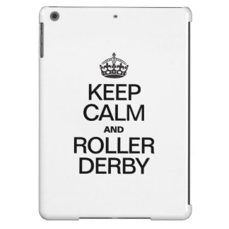 KEEP CALM AND ROLLER DERBY COVER FOR iPad AIR