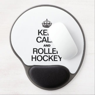 KEEP CALM AND ROLLER HOCKEY GEL MOUSE PAD