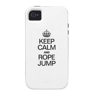 KEEP CALM AND ROPE JUMP Case-Mate iPhone 4 COVER