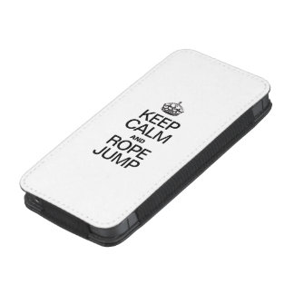 KEEP CALM AND ROPE JUMP iPhone 5 POUCH