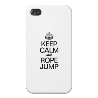 KEEP CALM AND ROPE JUMP CASES FOR iPhone 4
