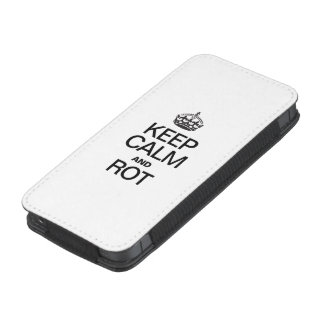 KEEP CALM AND ROT iPhone 5 POUCH