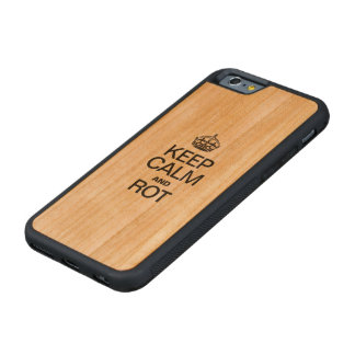 KEEP CALM AND ROT CARVED® CHERRY iPhone 6 BUMPER