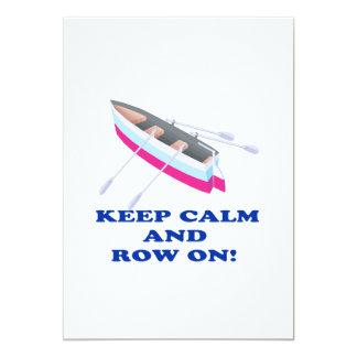 Keep Calm And Row On Card