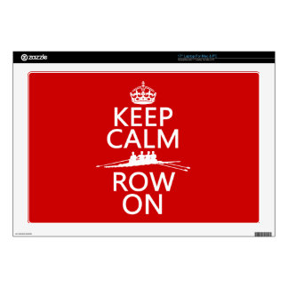 Keep Calm and Row On (choose any color) Decal For Laptop