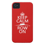 Keep Calm and Row On (choose any color) iPhone 4 Cover