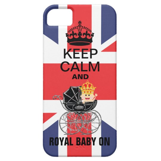 Keep Calm and Royal Baby ON Cell phone case