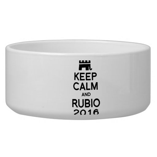 KEEP CALM AND RUBIO 2016 -.png Dog Bowls