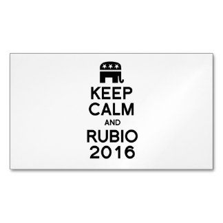 KEEP CALM AND RUBIO 2016 MAGNETIC BUSINESS CARDS (Pack OF 25)