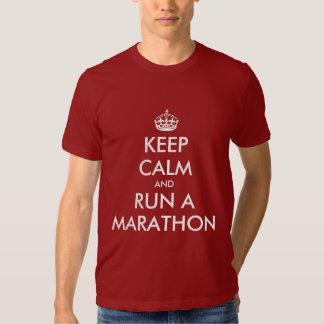 Keep Calm and run a marathon | T-shirt parody