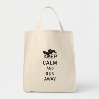 Keep Calm and Run Away - Zombie Grocery Tote Bag