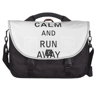 Keep Calm and Run Away - Zombie Laptop Commuter Bag