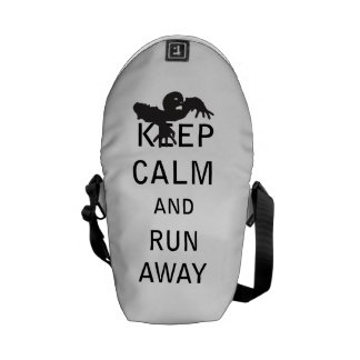 Keep Calm and Run Away - Zombie Messenger Bags