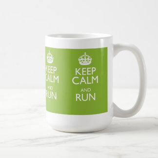 KEEP CALM AND RUN COFFEE MUG