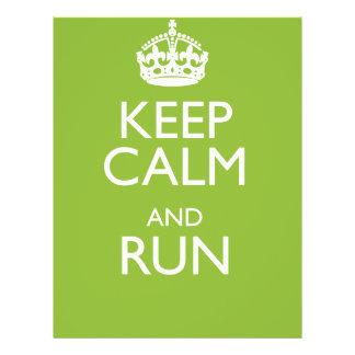KEEP CALM AND RUN FLYER