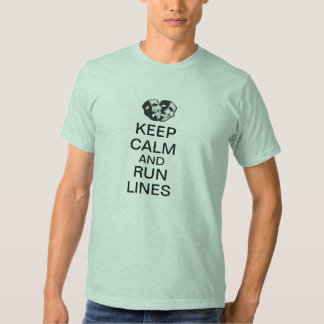 Keep Calm and Run Lines T Shirt