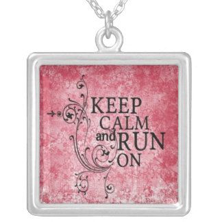 Keep Calm and Run On by Vetro Jewelry