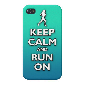 KEEP calm and run on Covers For iPhone 4