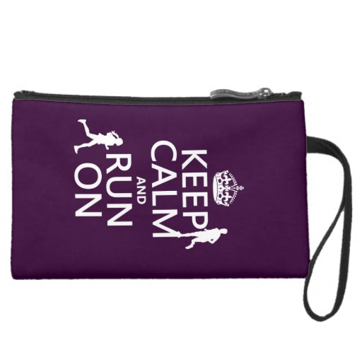 Keep Calm and Run On (customizable colors) Wristlet Clutch