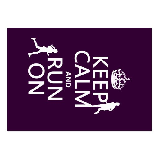 Keep Calm and Run On (customizable colors) Business Cards