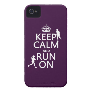 Keep Calm and Run On (customizable colors) Case-Mate iPhone 4 Cases