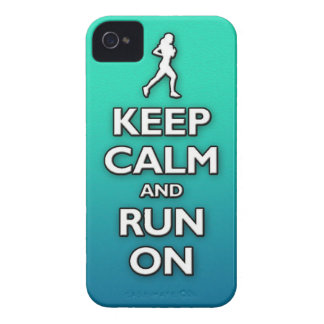 KEEP calm and run on iPhone 4 Case-Mate Cases