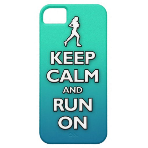 KEEP calm and run on iPhone 5 Covers