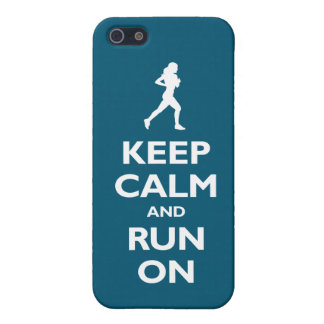 Keep Calm and Run On (oceanside) Case For iPhone SE/5/5s