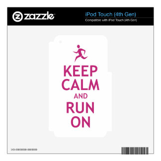Keep Calm and Run On Skins For iPod Touch 4G