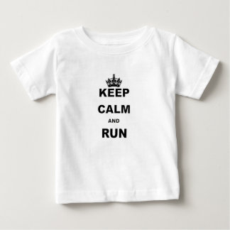 KEEP CALM AND RUN.png Baby T-Shirt