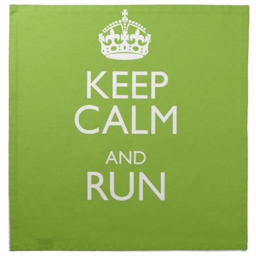 KEEP CALM AND RUN PRINTED NAPKIN